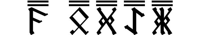 AngloSaxon Runes 2 Font UPPERCASE