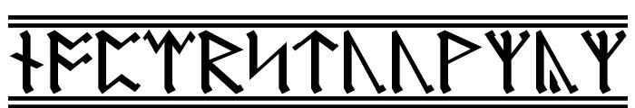 AngloSaxon Runes 2 Font LOWERCASE