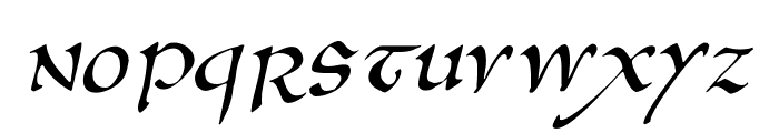 AnglosaxOblique Font UPPERCASE