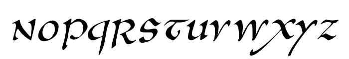 AnglosaxOblique Font LOWERCASE