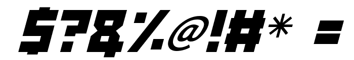 Angry Android Italic Font OTHER CHARS