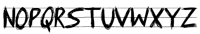 Angry Letter Font UPPERCASE