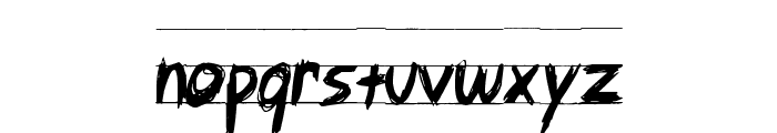 Angry Letter Font LOWERCASE
