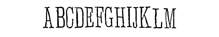 Anhedonia Font UPPERCASE