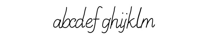 AniLazyDay Font LOWERCASE