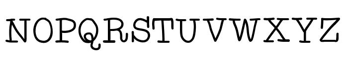 AniTypewriter Font UPPERCASE