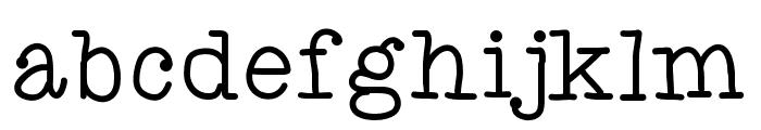 AniTypewriter Font LOWERCASE