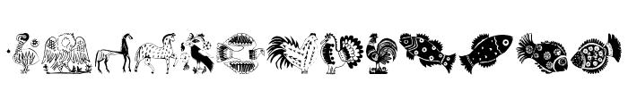 Animal Design Font LOWERCASE