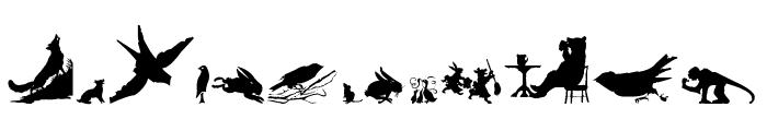 Animal Silhouettes Four Regular Font UPPERCASE