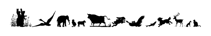 Animal Silhouettes Four Regular Font LOWERCASE
