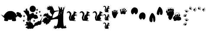 AnimalShadowsDrei Font OTHER CHARS