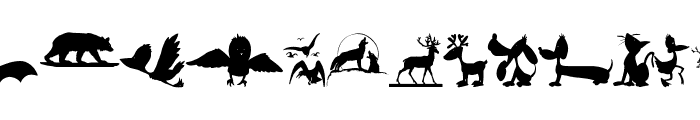 AnimalShadowsDrei Font UPPERCASE