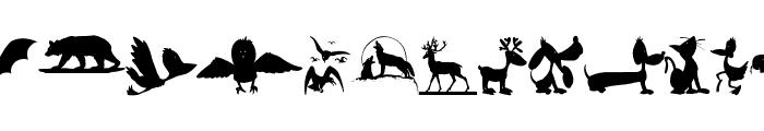AnimalShadowsDrei Font LOWERCASE
