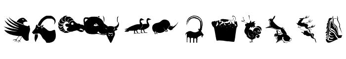 AnimalShadowsTwo Font LOWERCASE