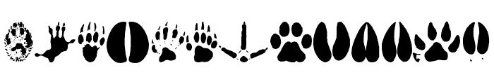 AnimalTracks Font UPPERCASE