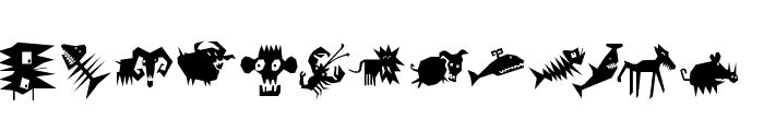 AnimaliaScissored Font UPPERCASE