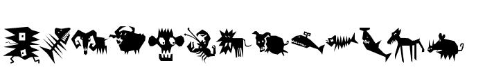 AnimaliaScissored Font LOWERCASE