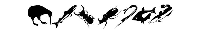 AnimalishSilhouettes Font OTHER CHARS