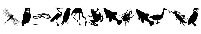 AnimalishSilhouettes Font UPPERCASE