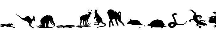 Animals 2 Font LOWERCASE