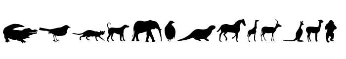 Animals Font UPPERCASE