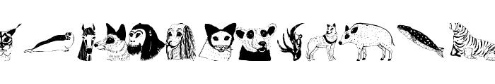 AnimalsAnywhere Font UPPERCASE