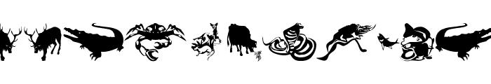 AnimalsPrey-2006 Font OTHER CHARS