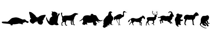 Animals Font LOWERCASE