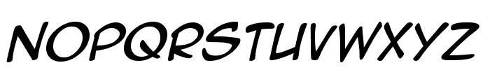 AnimeAce2.0BB-Italic Font UPPERCASE