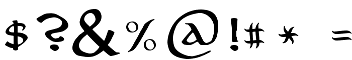 Aniron Font OTHER CHARS