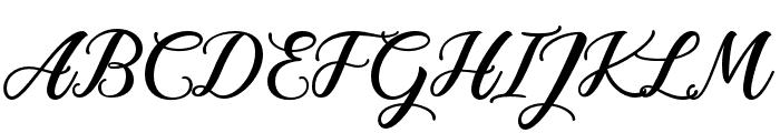 Anisha Free Regular Font UPPERCASE