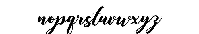 Anisha Free Regular Font LOWERCASE