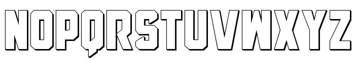 Anitlles 3D Font LOWERCASE