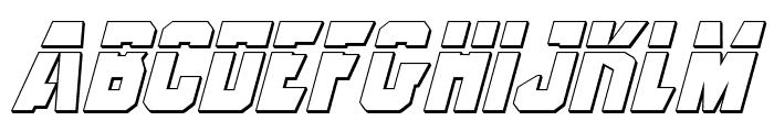 Anitlles Laser 3D Italic Font LOWERCASE