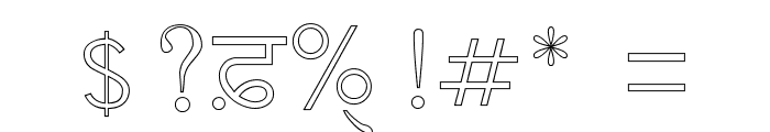 AnmolOutlined Font OTHER CHARS