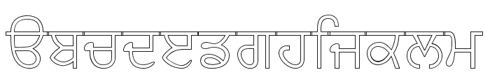 AnmolOutlined Font LOWERCASE
