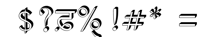 AnmolRaised Font OTHER CHARS