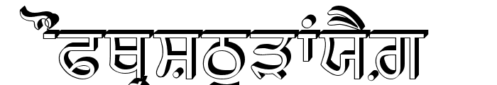 AnmolRaised Font UPPERCASE
