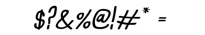 Anna-BoldItalic Font OTHER CHARS
