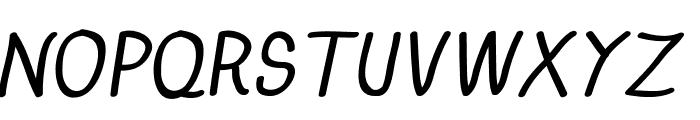 Anna-BoldItalic Font UPPERCASE