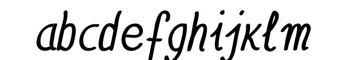 Anna-BoldItalic Font LOWERCASE