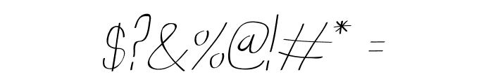 Anna-Italic Font OTHER CHARS