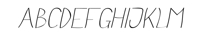 Anna-Italic Font UPPERCASE