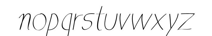 Anna-Italic Font LOWERCASE