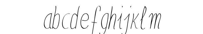 Anna-SemiCondensedItalic Font LOWERCASE