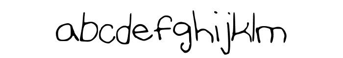 AnniesFontwithFaces Font LOWERCASE