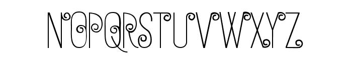 Anohana Typeface Font UPPERCASE