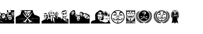 Anonbats Font LOWERCASE