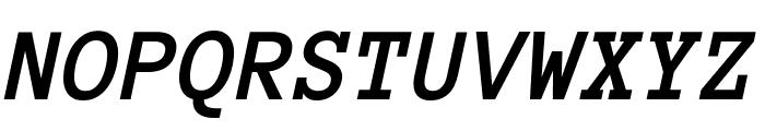 Anonymous Pro Bold Italic Font UPPERCASE