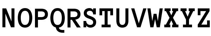 Anonymous Pro Bold Font UPPERCASE